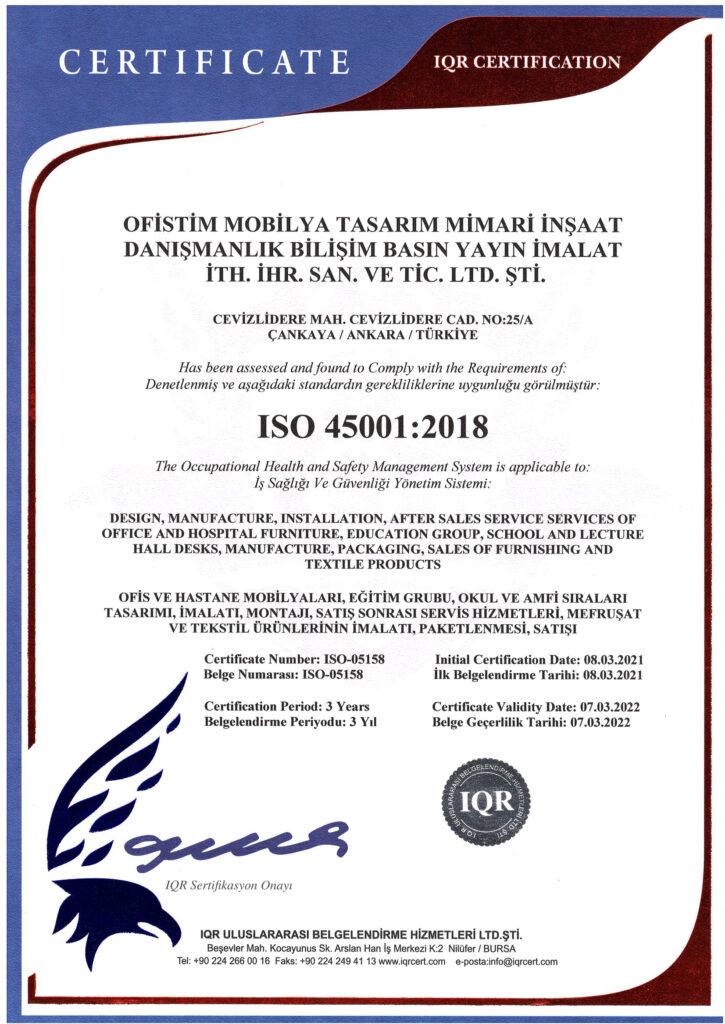 OFİSTİM ISO 45001