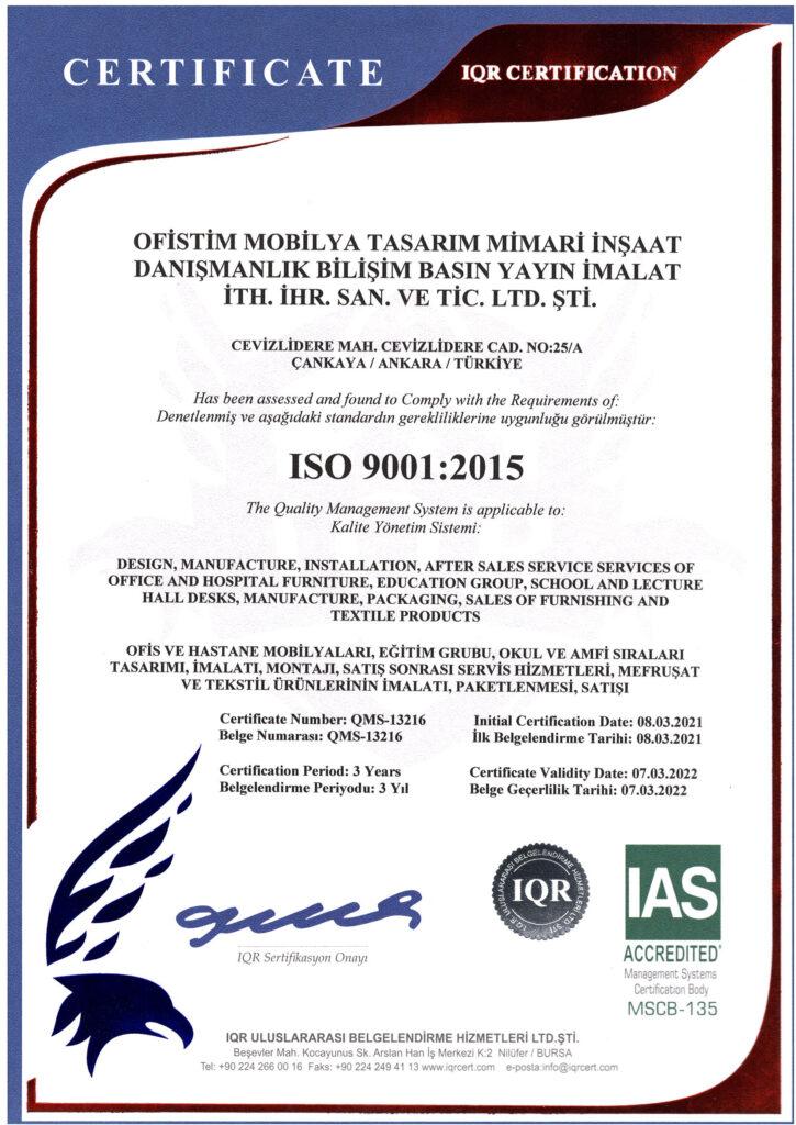 OFİSTİM ISO 9001
